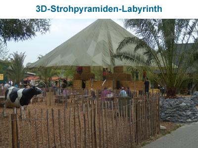 3D-Strohpyramiden-Labyrinth