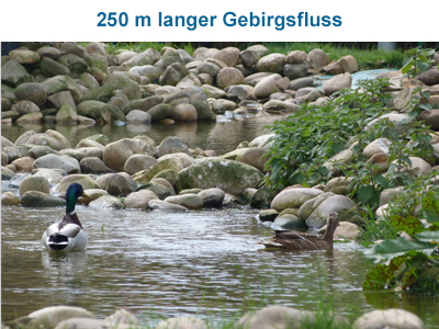 250 m langer Gebirgsfluss
