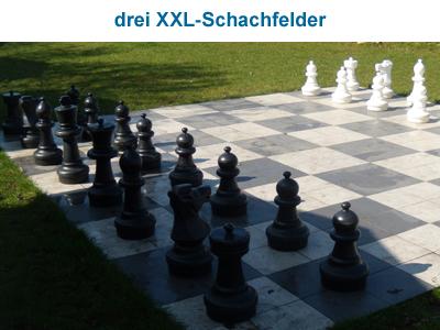 drei XXL-Schachfelder