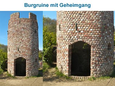 Burgruine mit Geheimgang