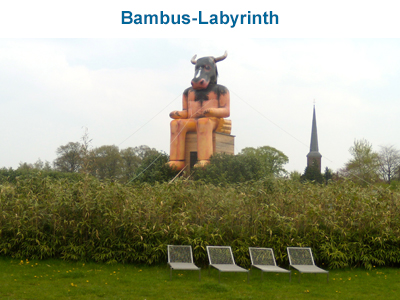 Bambus-Labyrinth